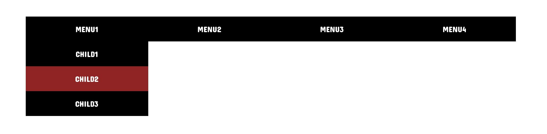 CSSだけでドロップダウンメニューを作る方法