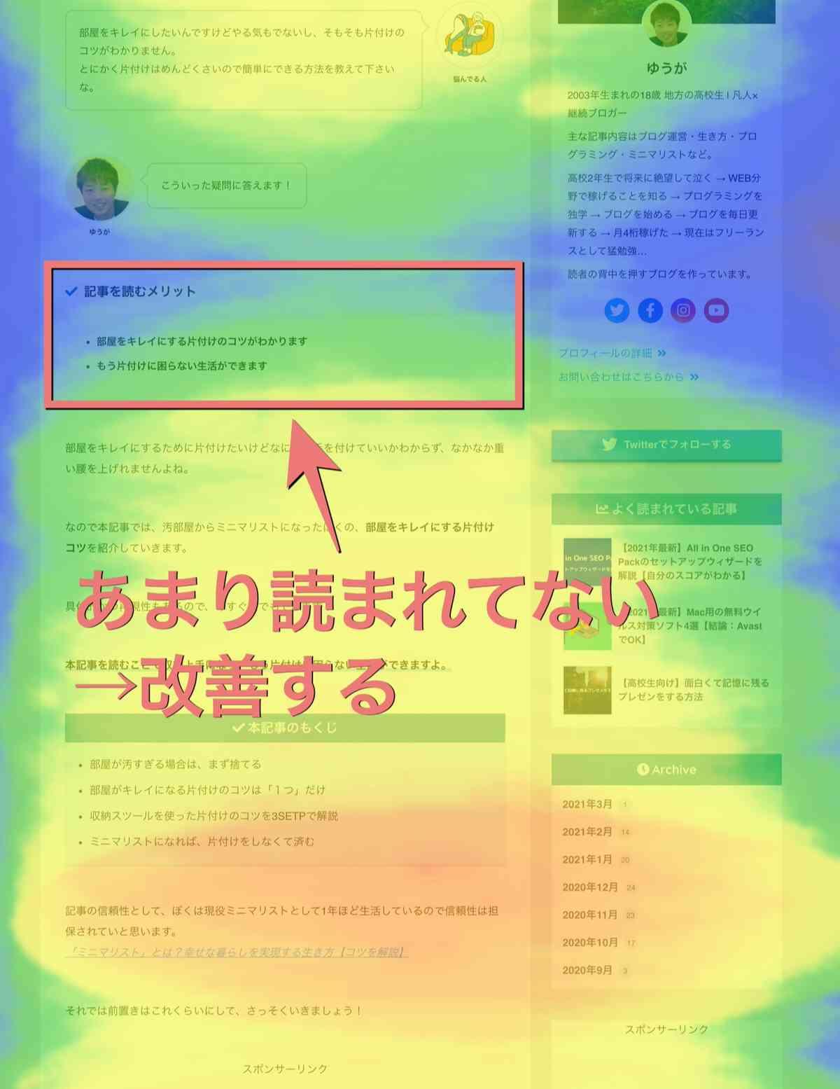 ①:記事の導入文を見る
